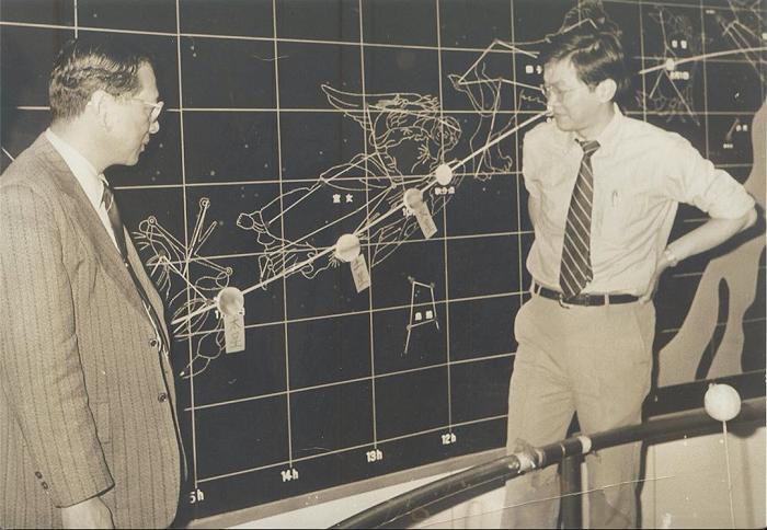 筆者在1981年暑假向圓山天文台蔡章獻台長報告,描述航行者任務對土星系統和泰坦的新發現。