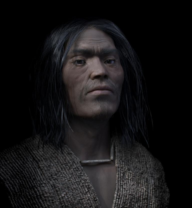 這名酋長過世時年約50歲,身覆一件重逾30公斤的串珠外衣下葬——顯示他擁有偉大財富與權力。PHOTOGRAPH BY PHILIPPE FROESCH, VISUAL FORENSIC