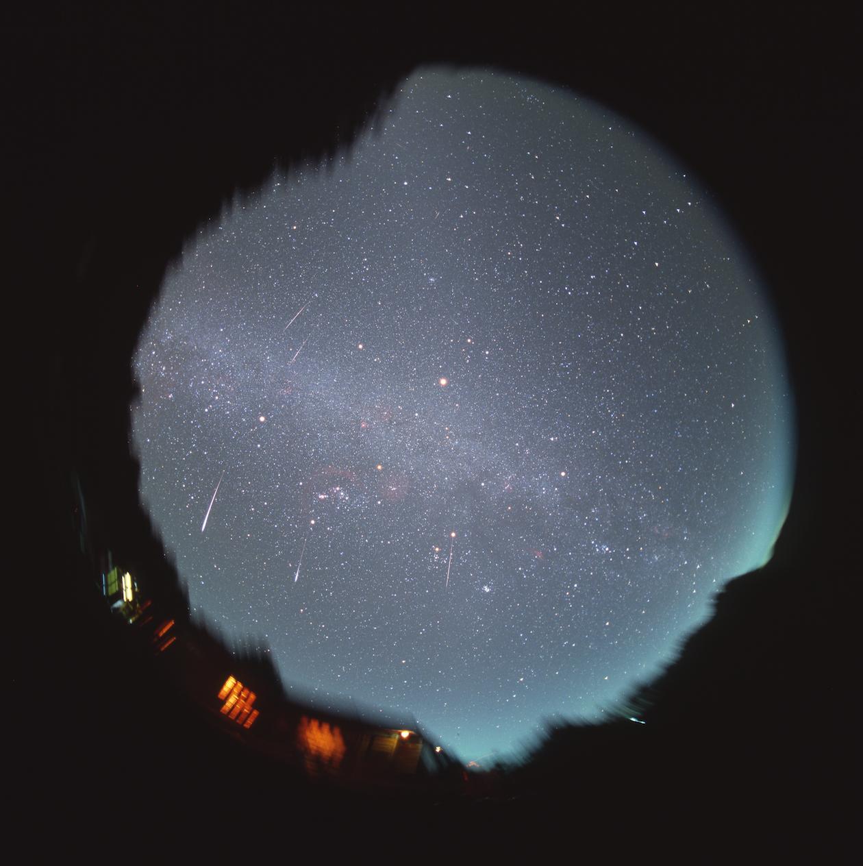 獅子座流星雨。攝影:李昫岱