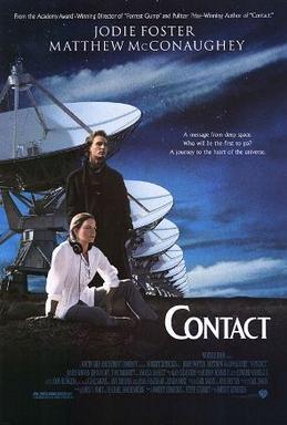 電影《接觸未來》劇照背景是用來搜尋外星文明的電波望遠鏡。/Photo by impawards