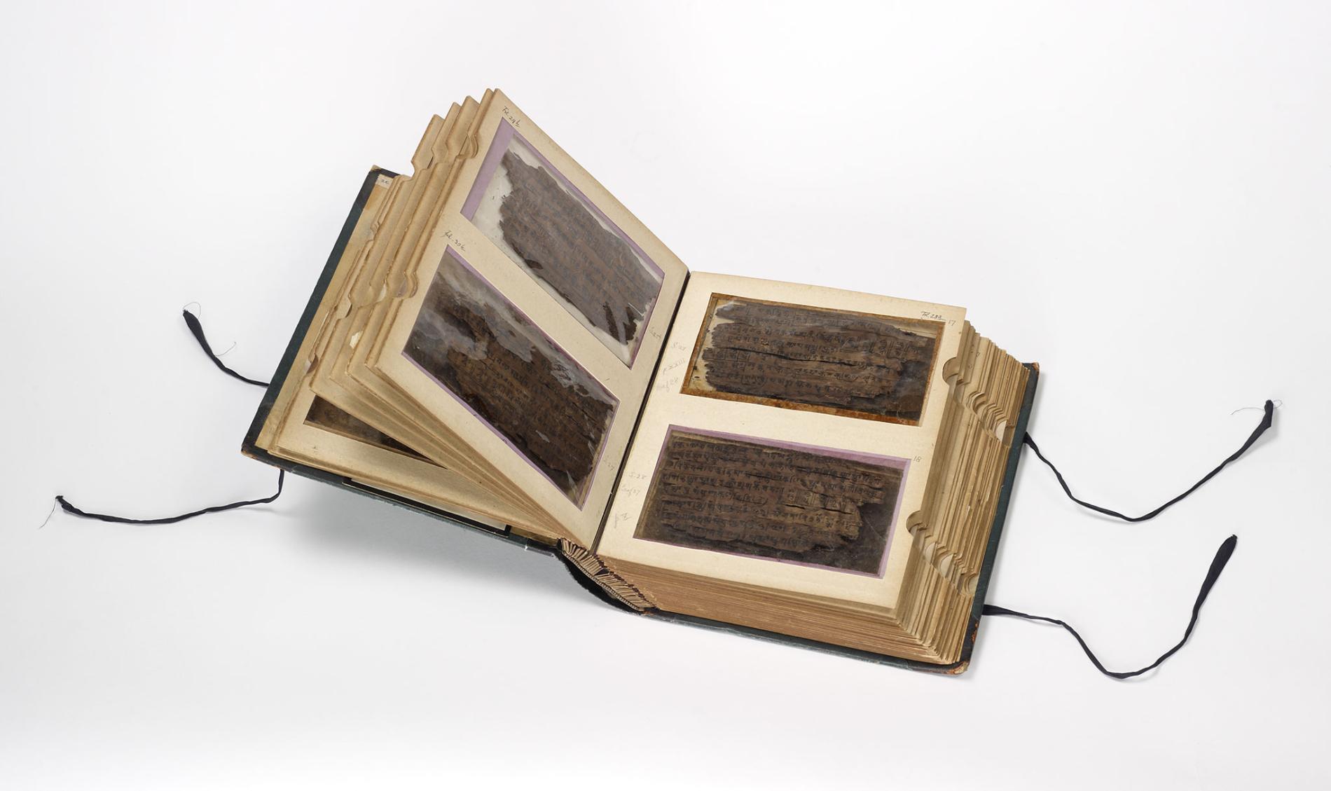 巴克沙利手稿放在收藏冊中