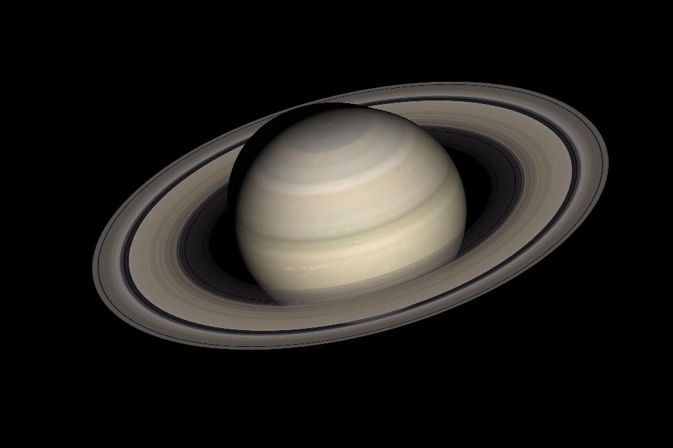 今年10月可以看見傾角最大的土星環。(Stellarium軟體製作)